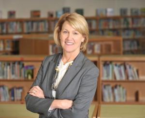 Belk Foundation board meeting at Ashley Park Pre-K K-8 school. Board chair Kate Morris.