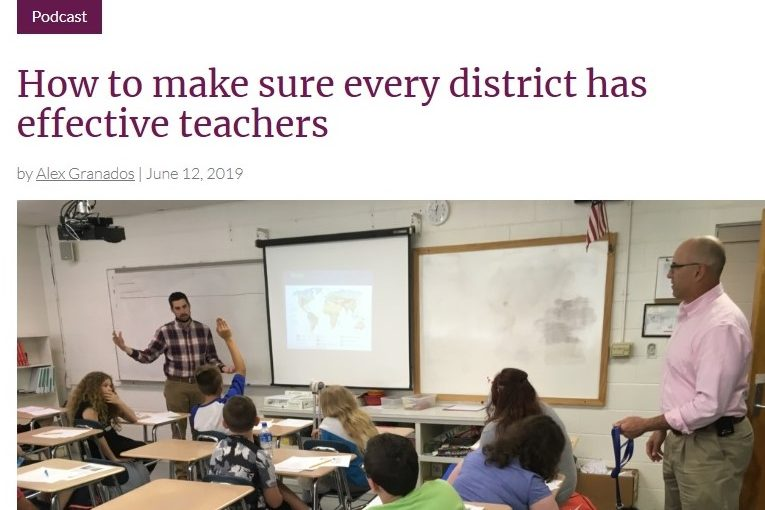 EdNC – EdTalk with Johanna Anderson: How to make sure every district has effective teachers